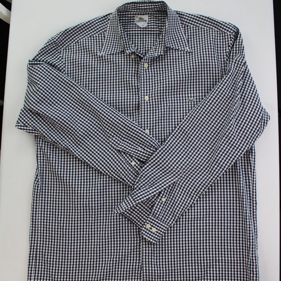 462099a951 Lacoste Button Down Shirt Long Sleeve